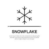 Snowflake Vector Line Icon - Simple Thin Line Icon, Premium Quality Design Element