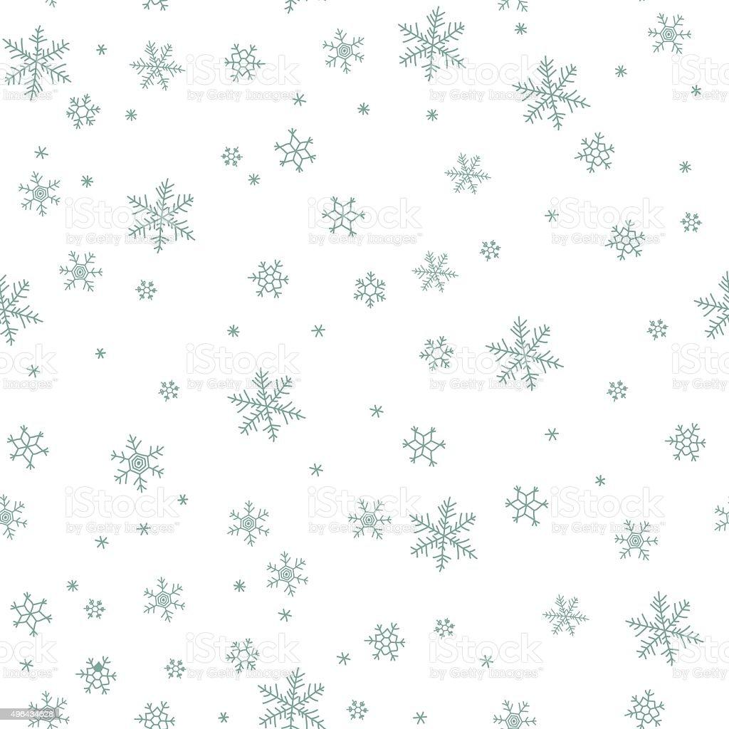 Snowflake vector pattern. vector art illustration