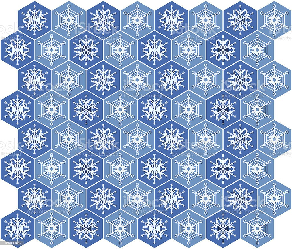 Schneeflocken-Tapete Muster – Vektorgrafik