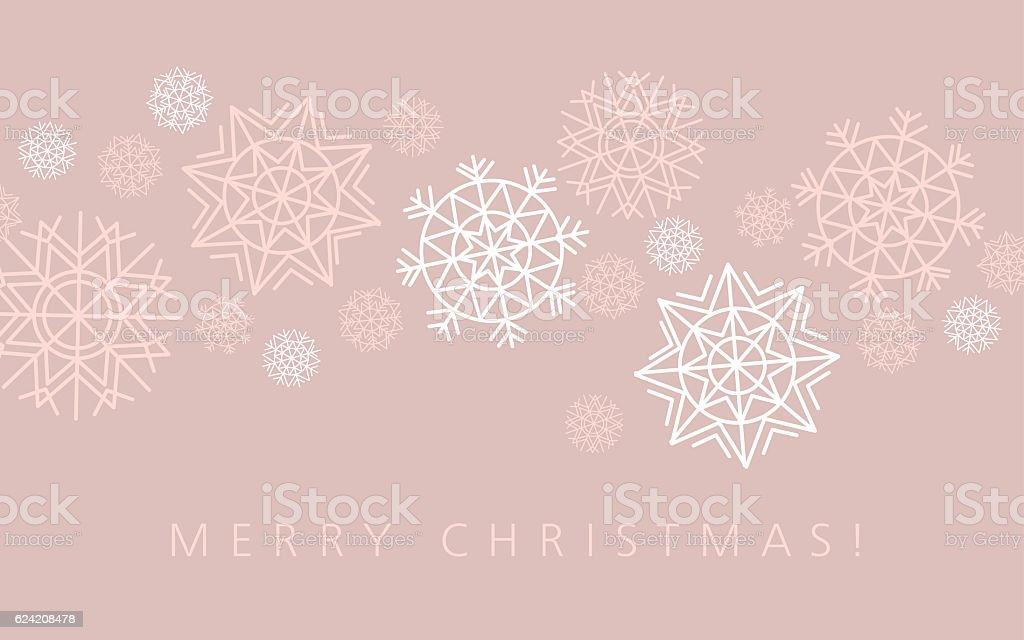 snowflake winter background in gentle feminine style. vector art illustration