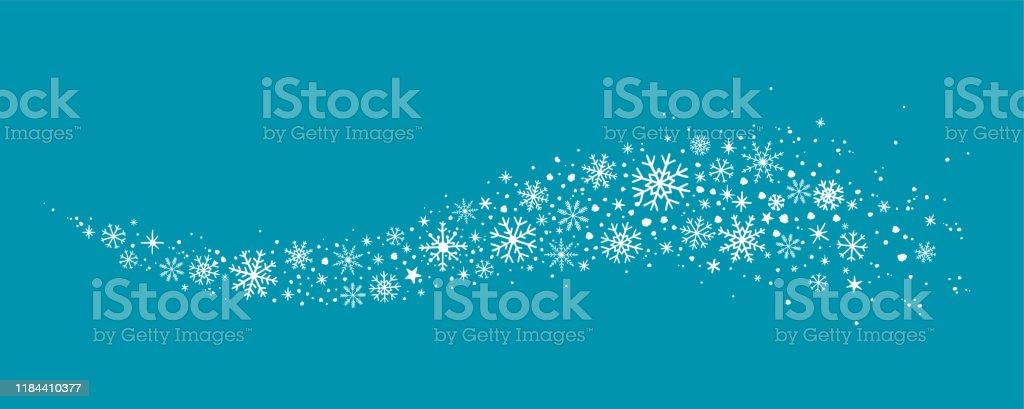 Schneeflocke Winter hintergrund - Lizenzfrei Biegung Vektorgrafik