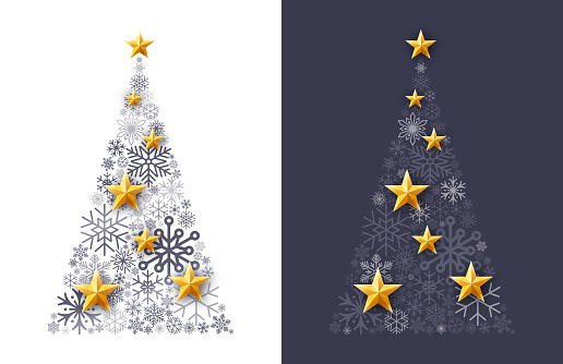 Snowflake Winter Holiday Tree
