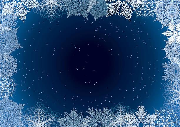 Snowflake winter night background – Vektorgrafik