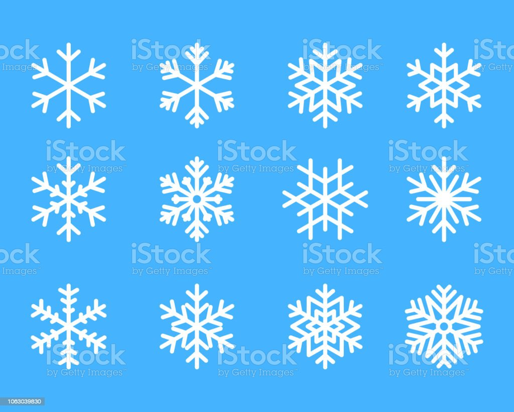 snowflake winter set of blue isolated icon silhouette on white background vector illustration royalty-free snowflake winter set of blue isolated icon silhouette on white background vector illustration stock illustration - download image now