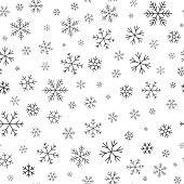 istock Snowflake winter snow line seamless pattern vector 1178565925