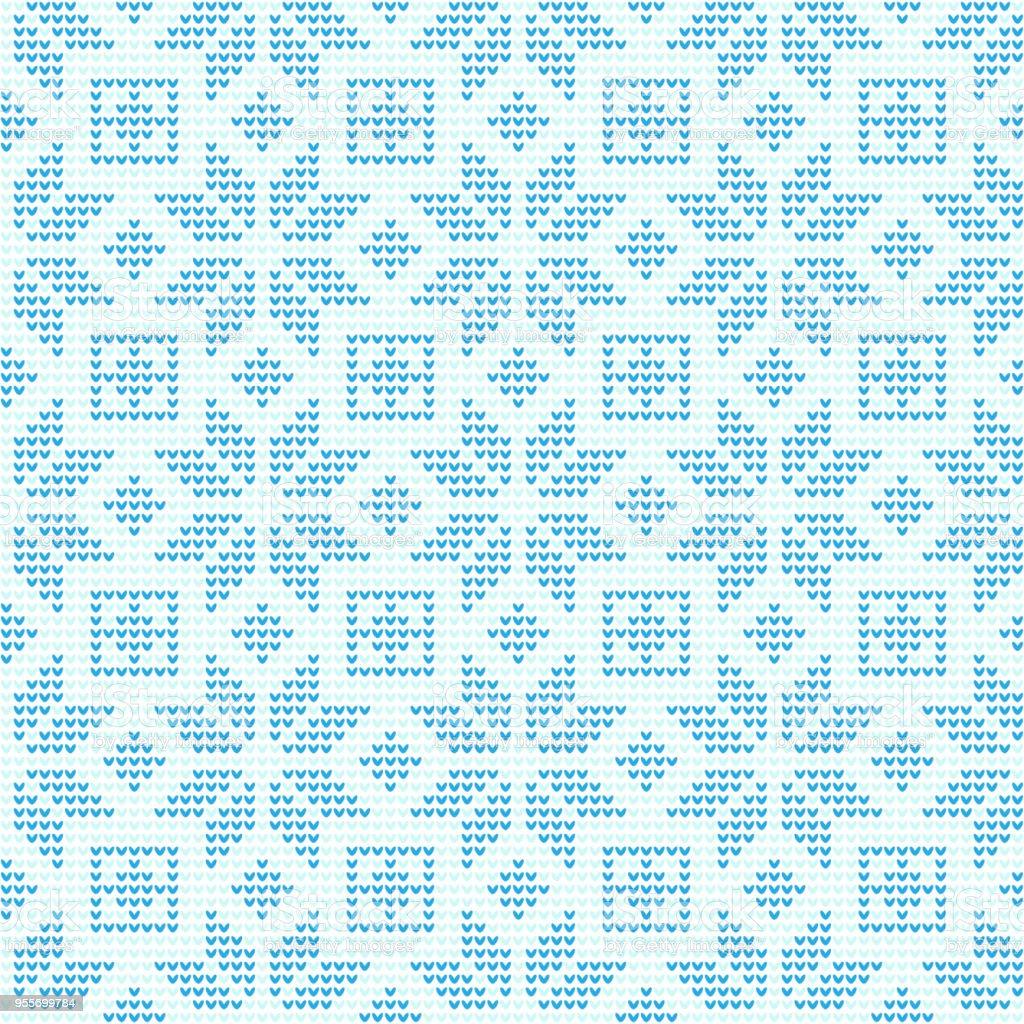 Ilustración de Copo De Nieve Navidad Tejer Repetición Patrón Vector ...