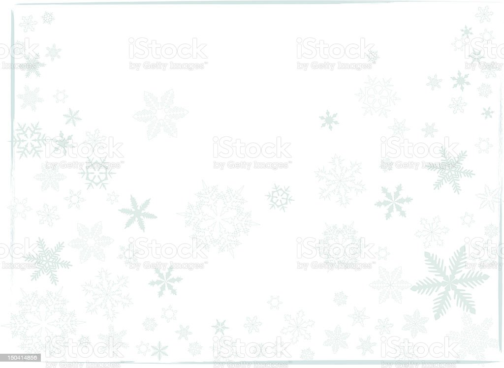 snowflakes 02 vector art illustration