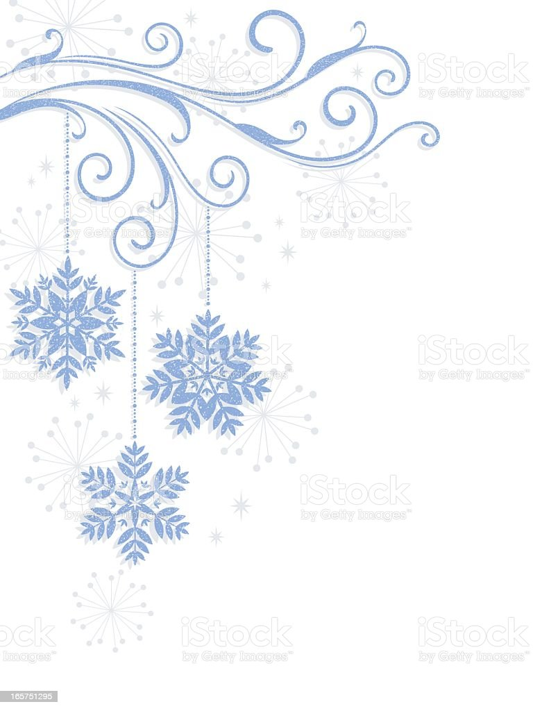 Snowflakes against a white background royalty-free stock vector art