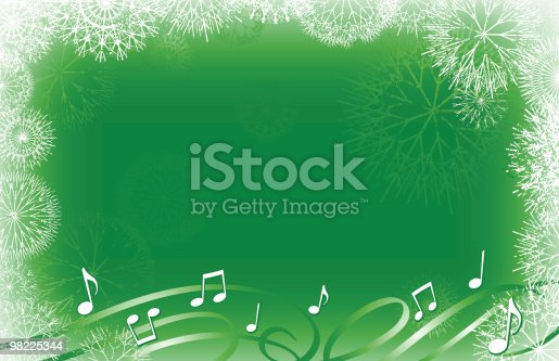 Snowflakes And Carols Stock Vector Art & More Images of Backgrounds 98225344