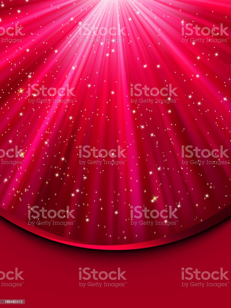 Snowflakes and stars descending. EPS 8 royalty-free stock vector art
