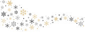 Snowflakes and Stars shaped curve design on white background. Set vector of winter symbols element for Christmas card. Pattern cute. illustration.