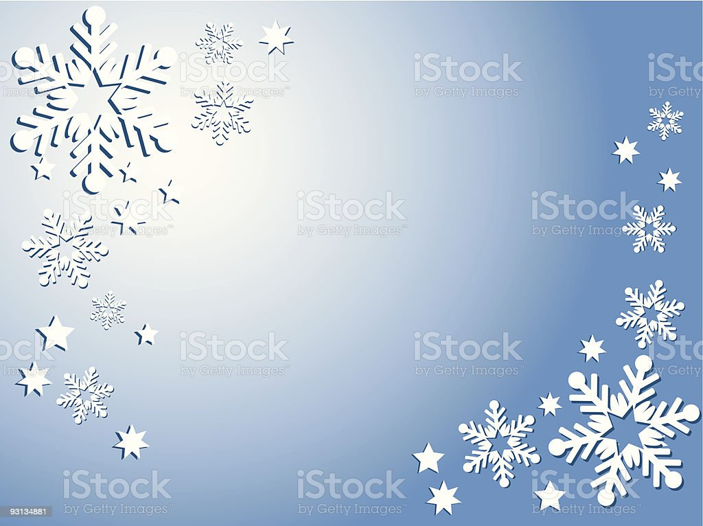 Snowflakes and stars royalty-free stock vector art