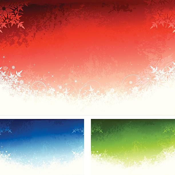 Schneeflocken Hintergrund Set – Vektorgrafik