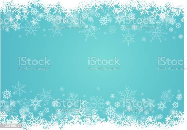 Schneeflocken Hintergrund Stock Vektor Art und mehr Bilder von Abstrakt