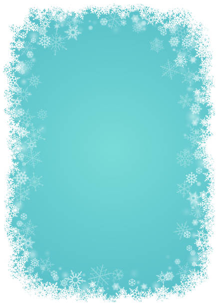 snowflakes background - backgrounds borders stock illustrations