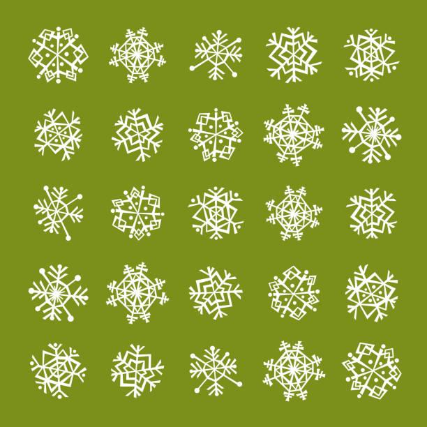 Snowflakes Background vector art illustration