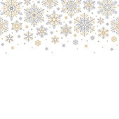 Holiday background with snowflakes