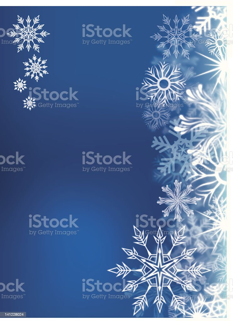 Snowflakes Background (Vector) royalty-free stock vector art