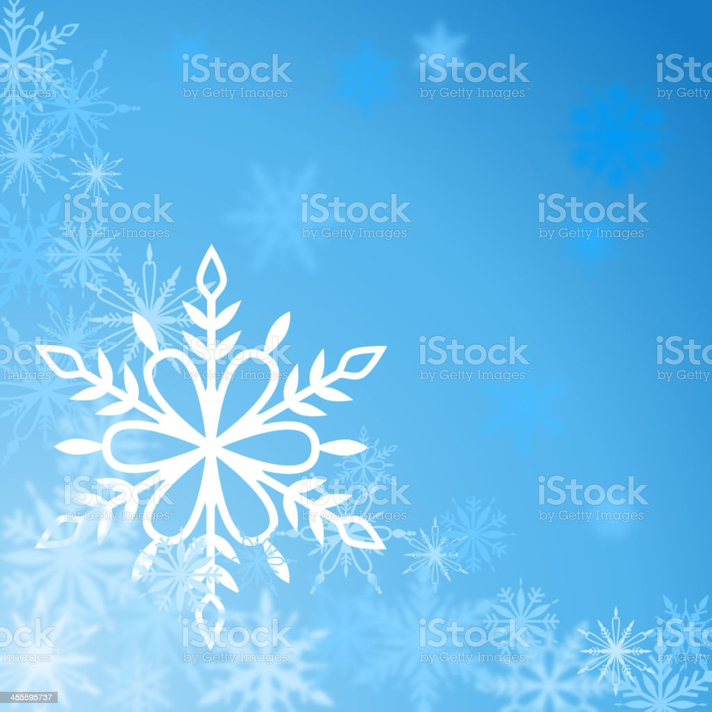 Snowflakes Background royalty-free stock vector art