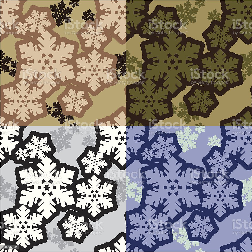 Snowflakes camo royalty-free snowflakes camo stock vector art & more images of abstract