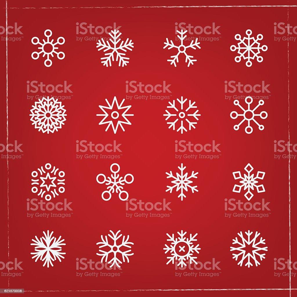 collection de flocons de neige collection de flocons de neige – cliparts vectoriels et plus d'images de beauté de la nature libre de droits