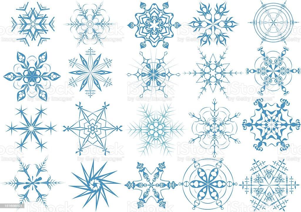 snowflakes design pattern royalty-free stock vector art