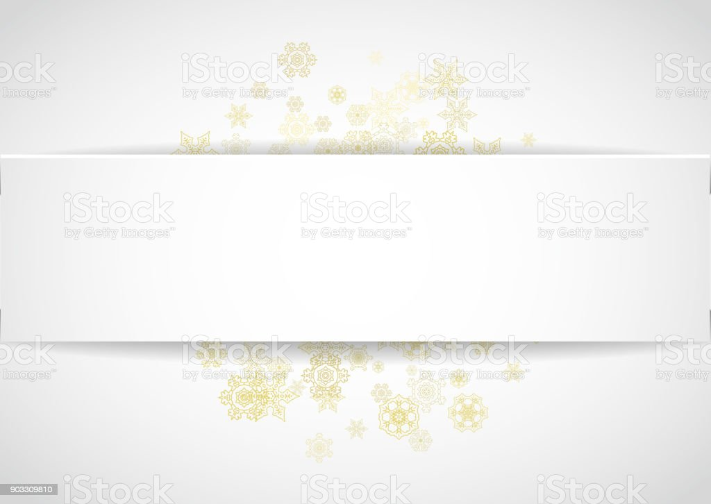 Snowflakes Frame On White Paper Background Stock Vector Art & More ...