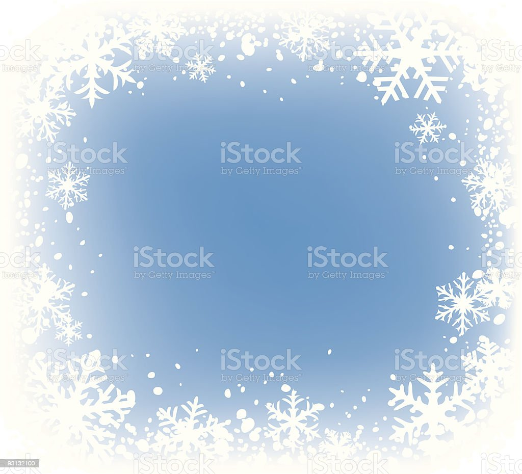 snowflakes frame royalty-free snowflakes frame stock vector art & more images of art