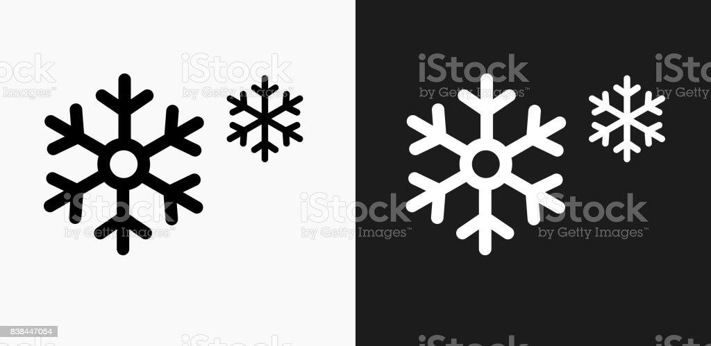 Schneeflocken-Symbol auf schwarz-weiß-Vektor-Hintergründe - Lizenzfrei Begriffssymbol Vektorgrafik