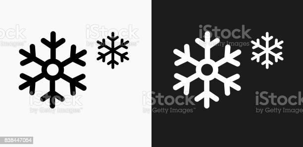 Schneeflockensymbol Auf Schwarzweißvektorhintergründe Stock Vektor Art und mehr Bilder von Begriffssymbol