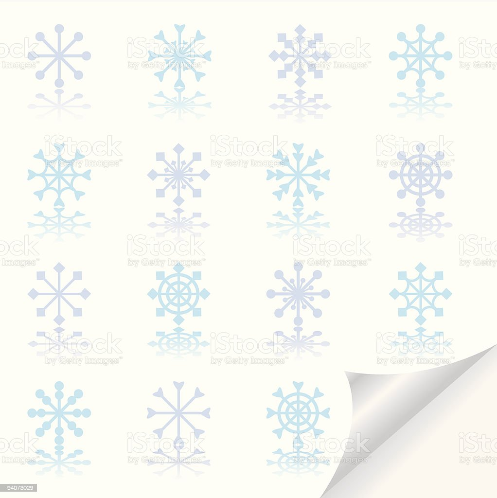 Snowflakes icon set  Abstract stock vector