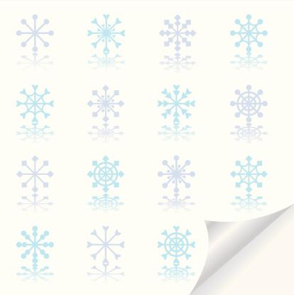 Snowflakes Icon Set Stock Illustration - Download Image Now