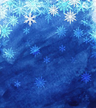snowflakes landscape
