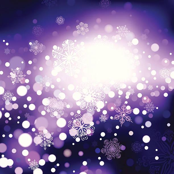 Snowflakes on Purple Background. EPS8 vector art illustration