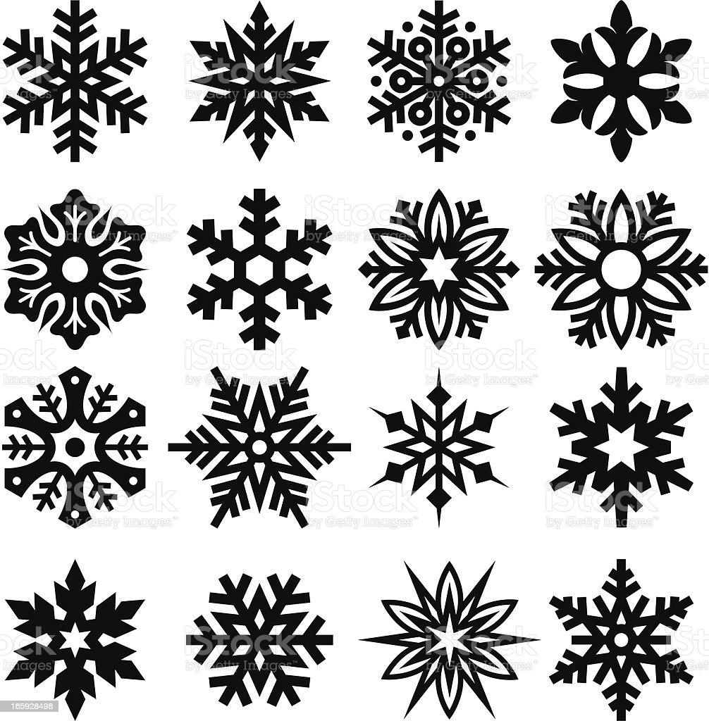 Snowflakes One vector art illustration