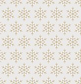 Snowflakes pattern seamless line art vector illustration