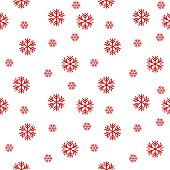 Snowflakes seamless pattern vector background