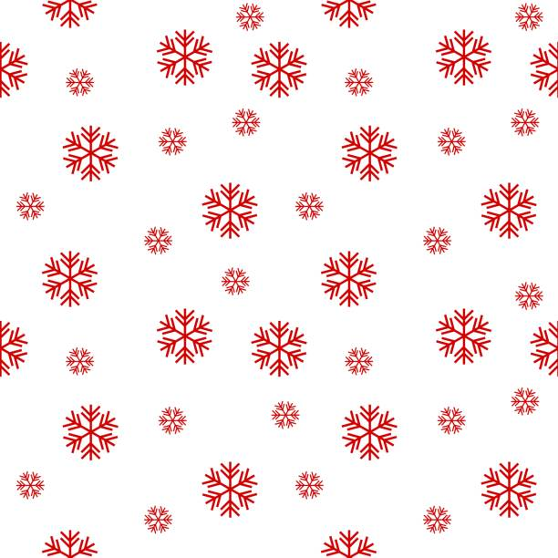 snowflakes seamless pattern vector background - papier do pakowania stock illustrations