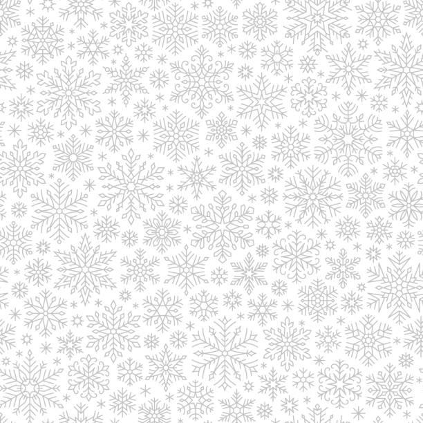 snowflakes seamless pattern - holiday season stock illustrations