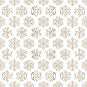 Square seamless pattern with snowflakes