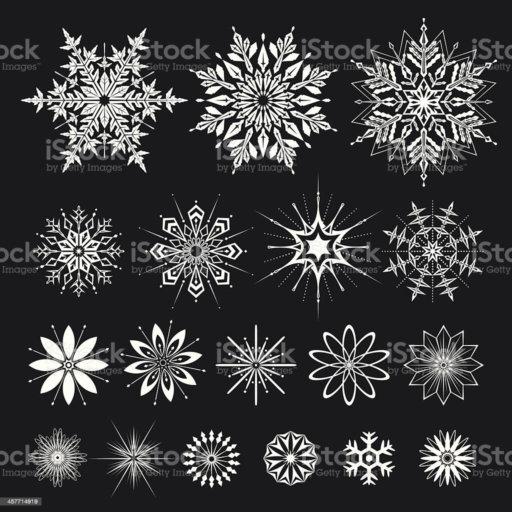 Snowflakes Set royalty-free stock vector art