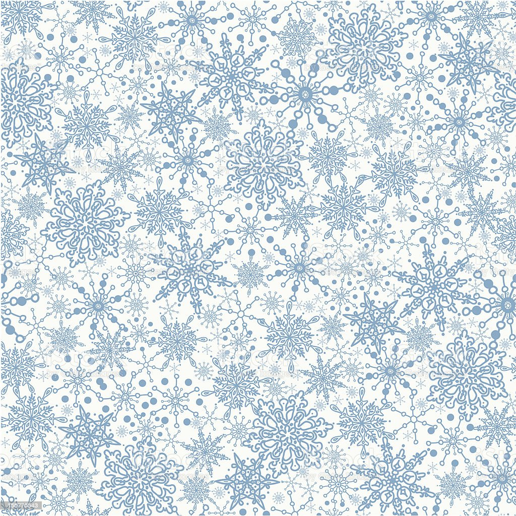 Snowflakes Texture Seamless Pattern Background royalty-free snowflakes texture seamless pattern background stock vector art & more images of backgrounds