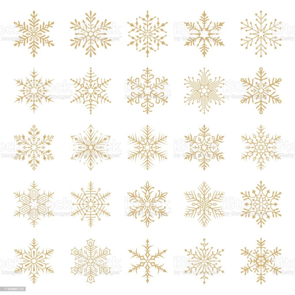 Schneeflocken - Lizenzfrei Abstrakt Vektorgrafik