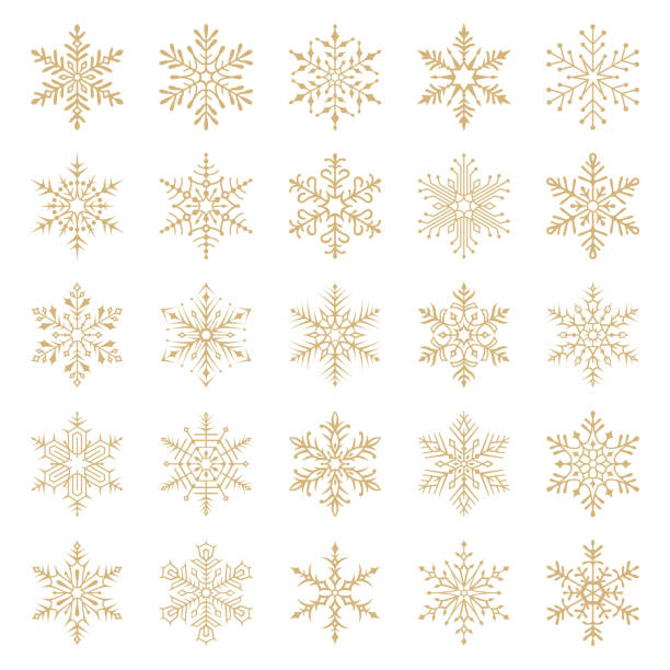 눈송이 - snowflakes stock illustrations
