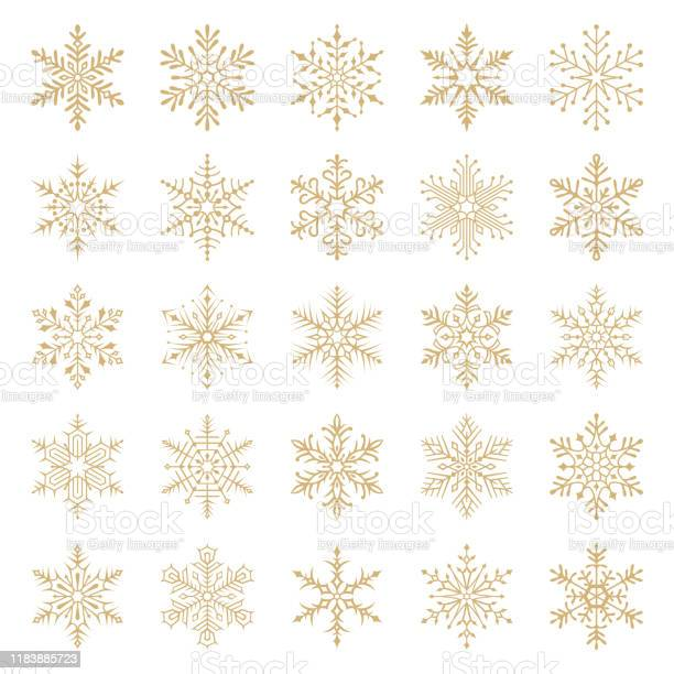 Schneeflocken Stock Vektor Art und mehr Bilder von Abstrakt