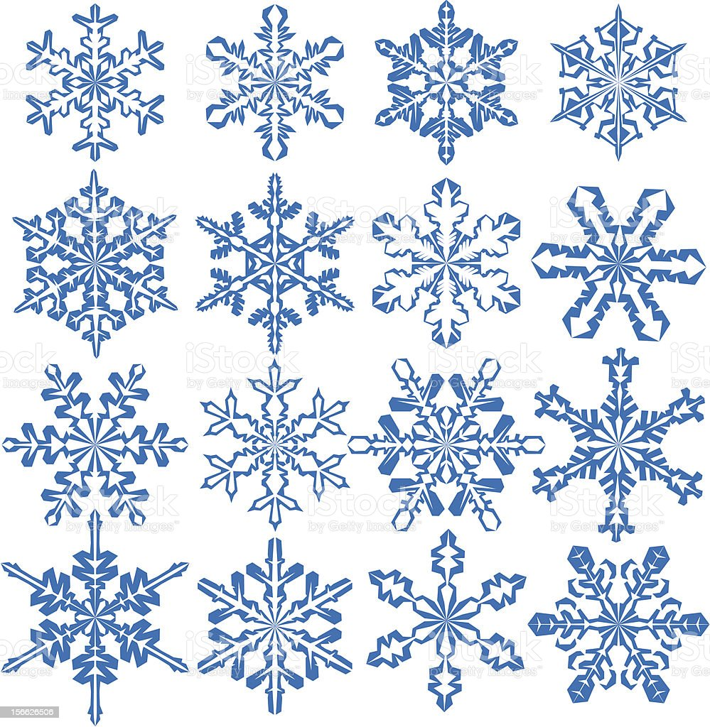 Snowflakes royalty-free snowflakes stock vector art & more images of blue