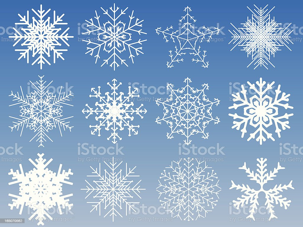 Snowflakes royalty-free snowflakes stock vector art & more images of backgrounds