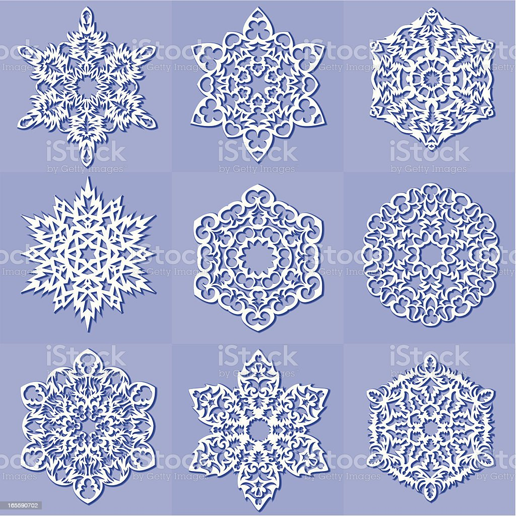 snowflakes, royalty-free snowflakes stock vector art & more images of blue