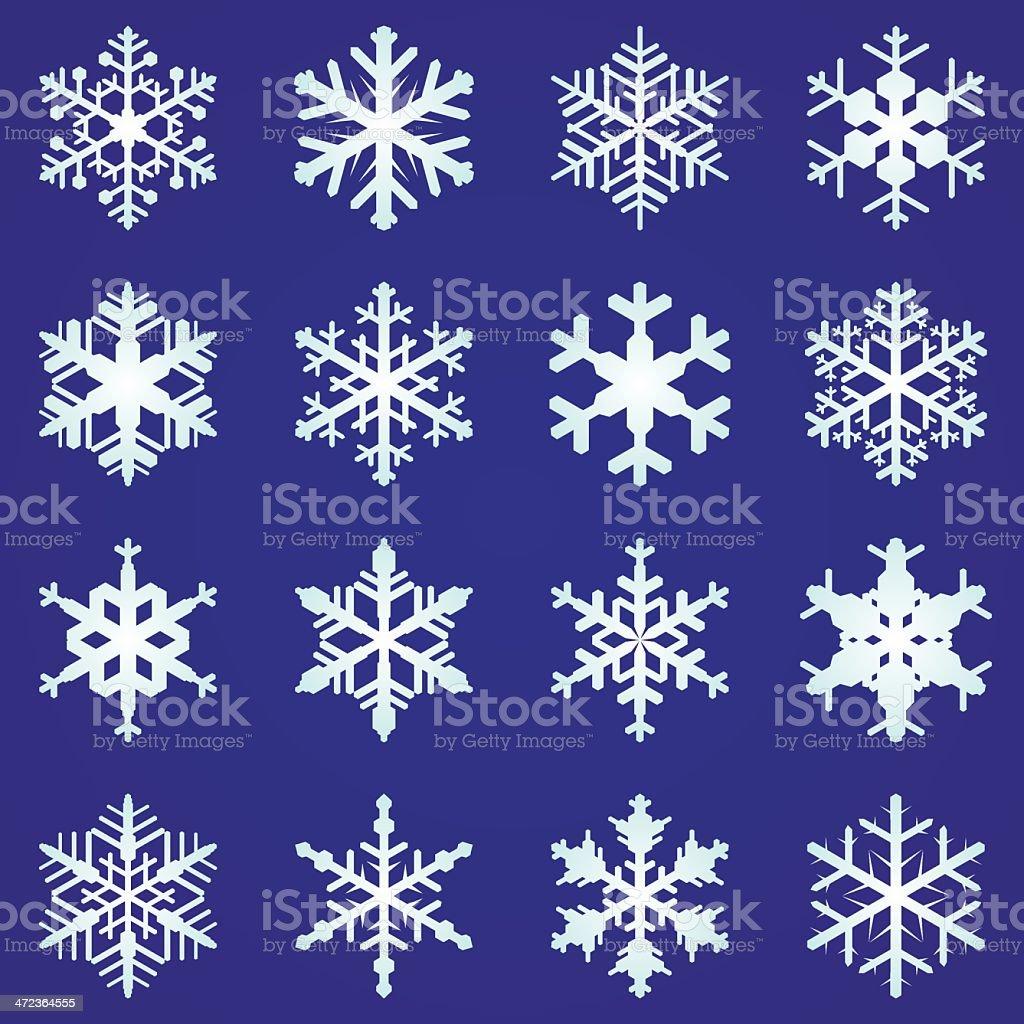 snowflakes vector art illustration