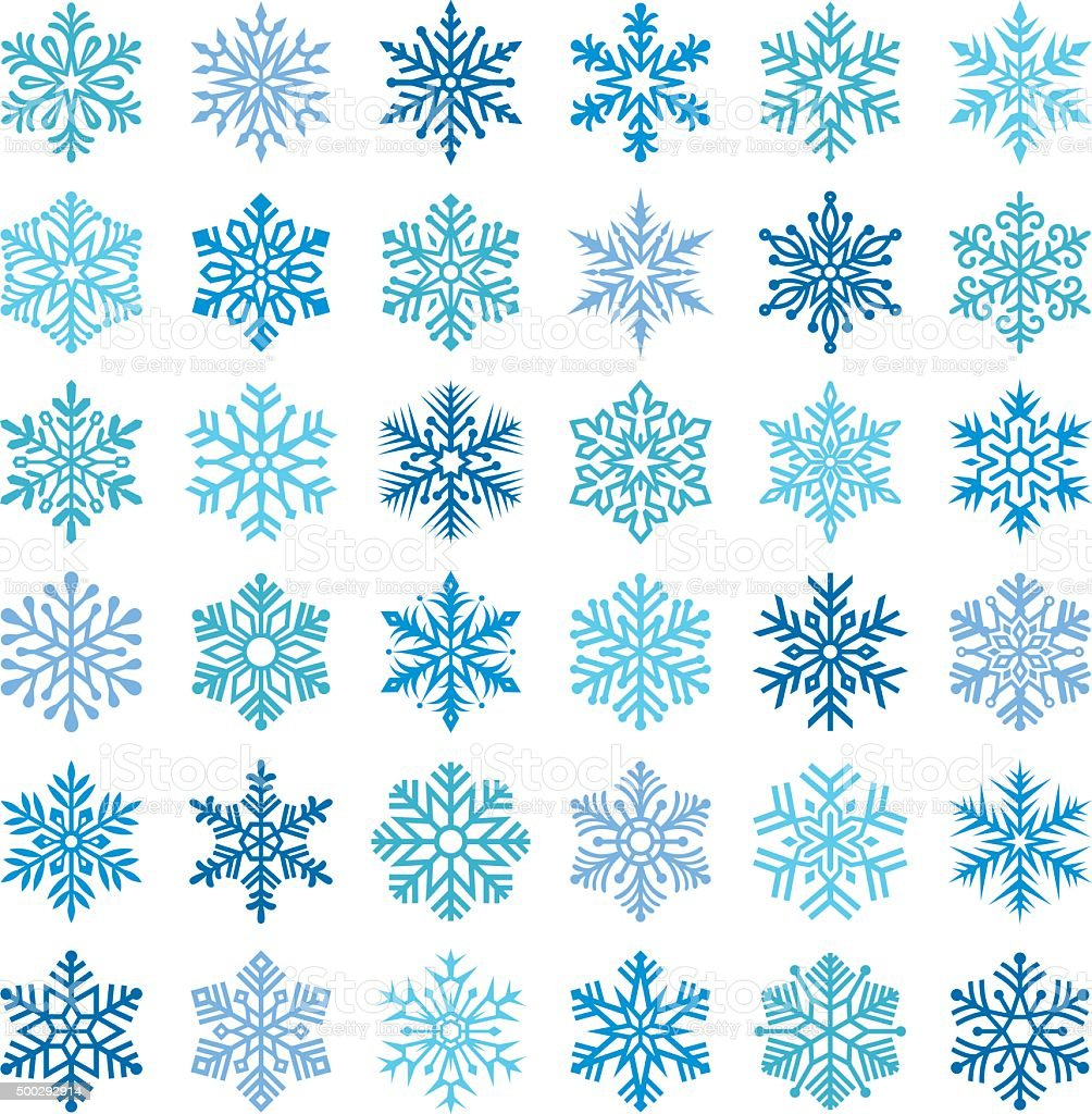 Snowflakes vector art illustration